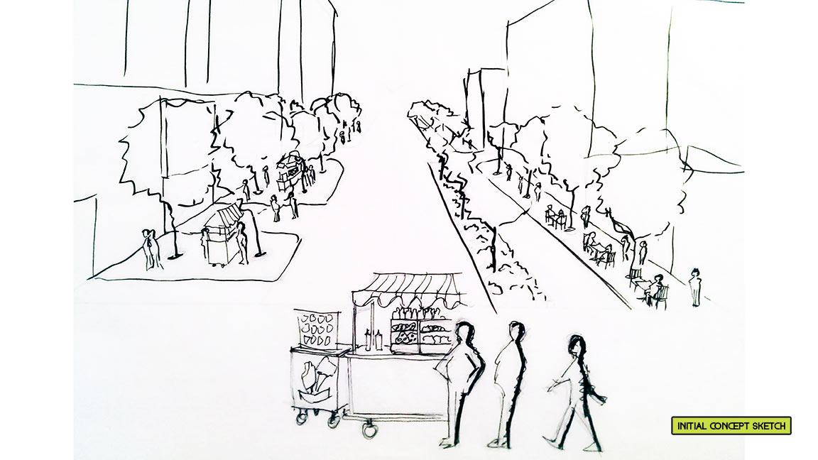 Concept sketch street redesign
