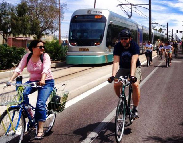 Light rail and bikes_cropped
