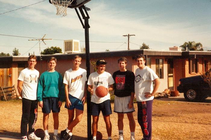Mayor Greg Stanton basketball