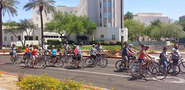 Bikes in Downtown Phoenix