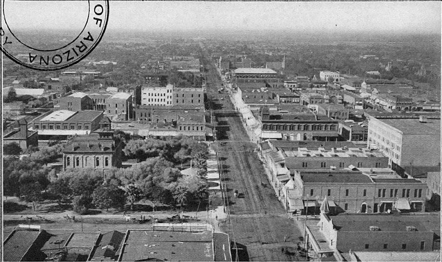 Downtown Phoenix in 1909