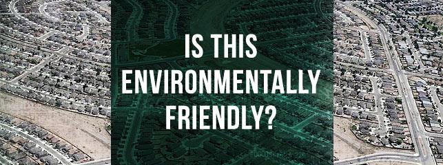 Environmental benefits of urban living